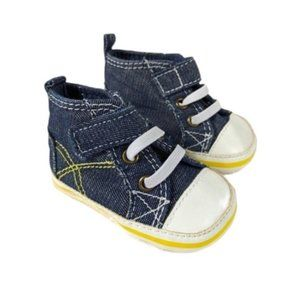Old Navy High Top Baby Boy Chambray Crib Shoes 1